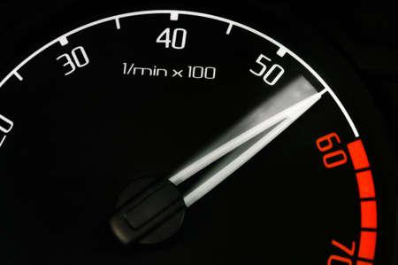 revolution counter speedometer needle speeding up