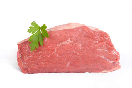 raw rump fillet beef meat Stock Photo