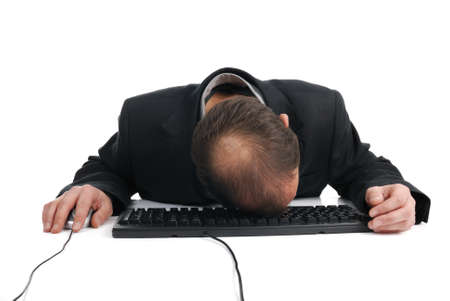 strained: business workload breakdown collapse Stock Photo