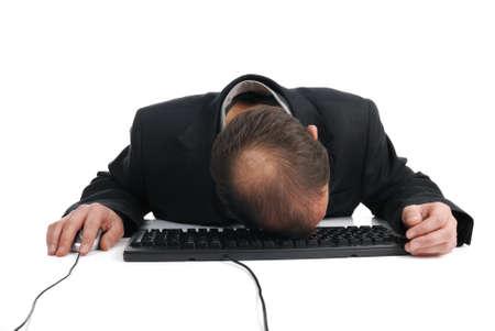 effondrement: R�duire la charge de travail d'entreprise r�partition Banque d'images