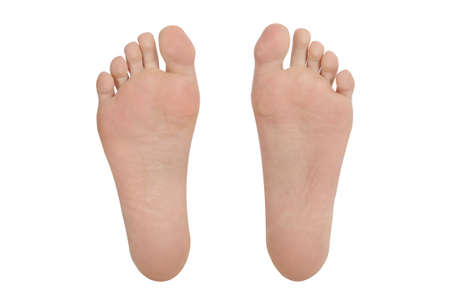 foot prints: foot feet sole bottom toes pair