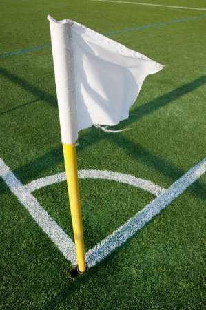 corner arc flag of football playing field ground