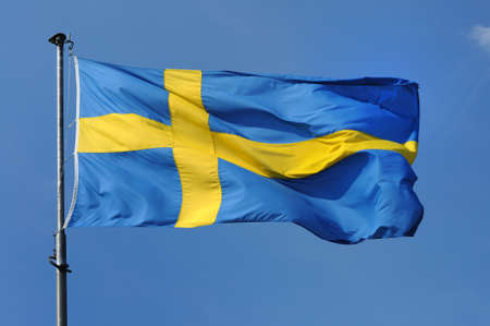 swedish sweden national flag photo