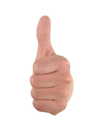 thumb up (or down) symbol sign Stock Photo