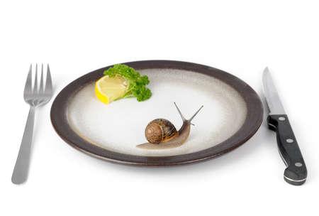 first class dinner Stock Photo