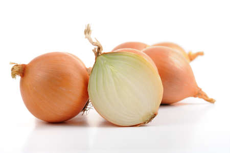 halved onion and onions Stock Photo - 11106242