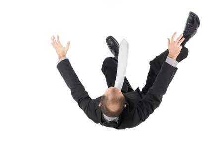 caida libre: hombre de negocios cae