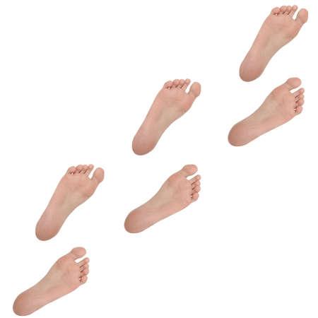 Foot prints photo