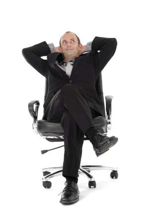 easy chair: Business relaxed Stock Photo