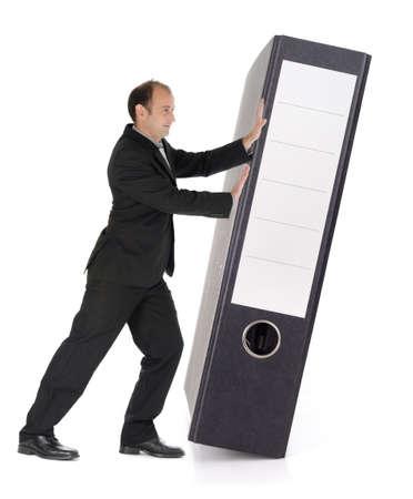 cope: Businessman and filing folder at work