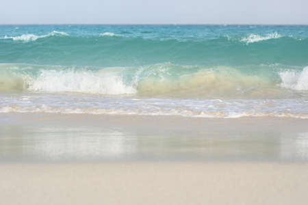 billow: Waves on tranquil beach