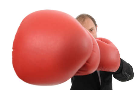 Man boxing a punch