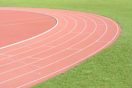 pista de atletismo: Ejecución de pista de atletismo campo deporte