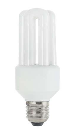 ahorro energia: Bombilla de la l�mpara ahorro de energ�a Foto de archivo