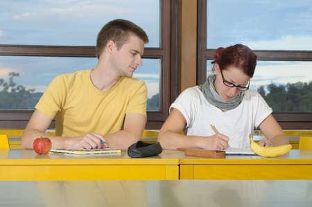 cheat: Cheating student