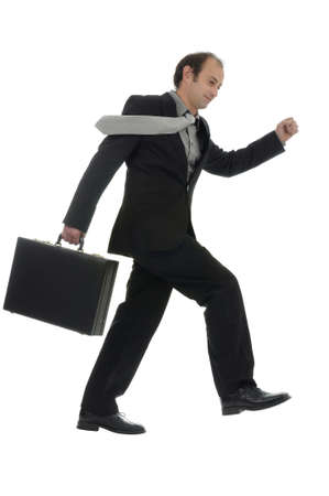 Businessman hurrying photo