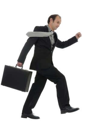 hurrying: Businessman hurrying