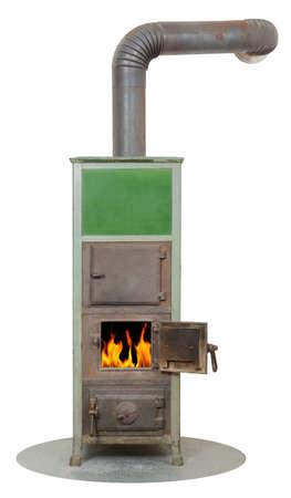 Wood and coal fired masonry stove heater photo