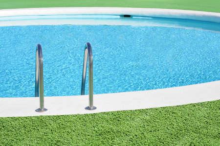 Swimming pool handrail detail