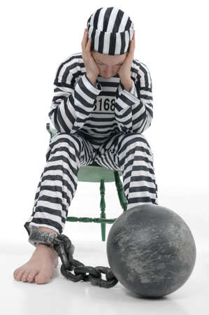 atone: Prisoner in prison arrest Stock Photo