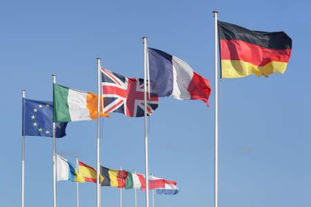 ヨーロッパ ヨーロッパの国旗 写真素材