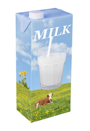 glass containers: Milk carton