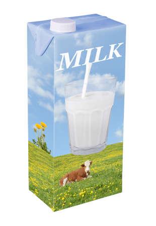 milk pouring: Milk carton