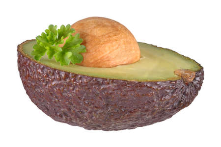 hatred: Halved avocado
