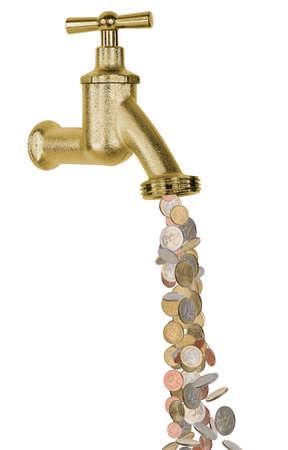 Money tap Reklamní fotografie