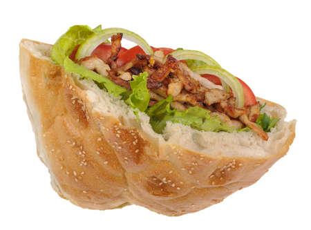 yufka: Fresh donair doner kebab flatbread