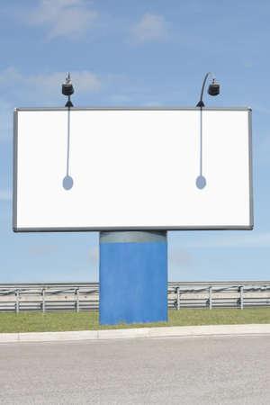 Road side billboard copyspace Stock Photo