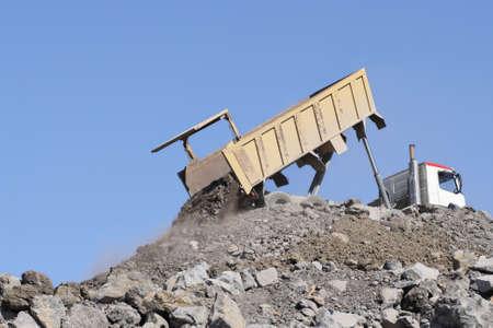 Truck dumping unloading