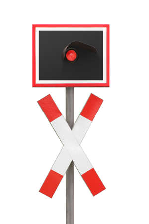 German railroad crossing warning railway cross Reklamní fotografie