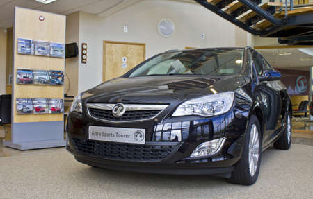 astra: Vauxhall Astra Sports Tourer  at the Vauxhall factory showroom,  Ellesmere Port, England