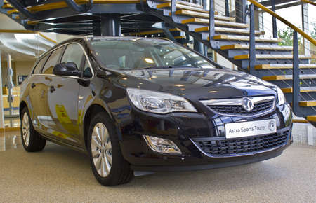 Vauxhall Astra Sports Tourer At The Vauxhall Factory Showroom,.. Stock  Photo, Picture And Royalty Free Image. Image 21674818.