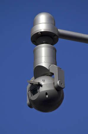 close circuit camera: Exterior shot of a CCTV security camera Stock Photo