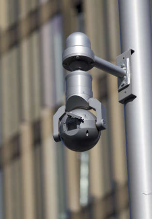 close circuit camera: Exterior shot of a CCTV security camera Stock Photo