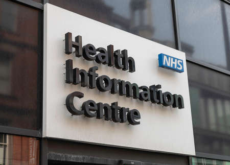 Sign for NHS Health Information Centre in Liverpool May 2018