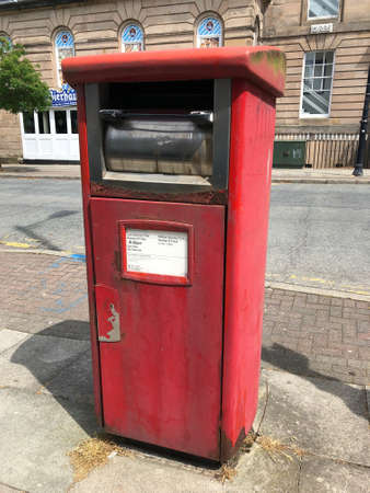 A large red post box for franked mail only, Hamilton Square, Birkenhead, Wirral