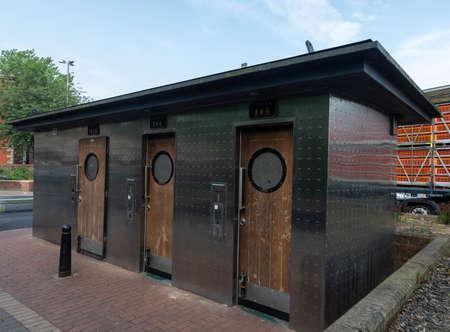 A public toilet in the city centre Preston Lancashire June 2018 Stock Photo