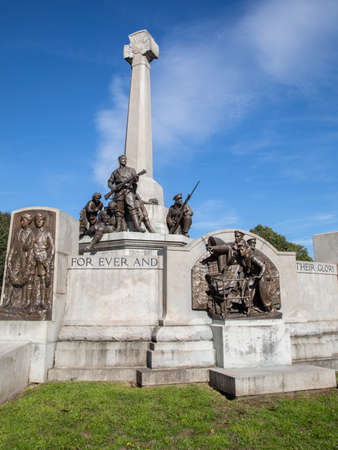 Memorial to mark Lever Brothers employees lost in the First World War and added to after the Second World War at Port Sunlight Wirral September 2018