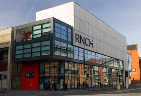 Exterior shot of the Royal Northern College of Music taken from Oxford Road Manchester England February 2013