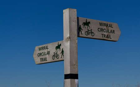 Wirral Circular Trail sign, Leasowe, Wirral, England