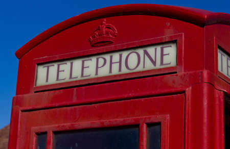 The top of a British red telephone box Leasowe Wirral March 2012