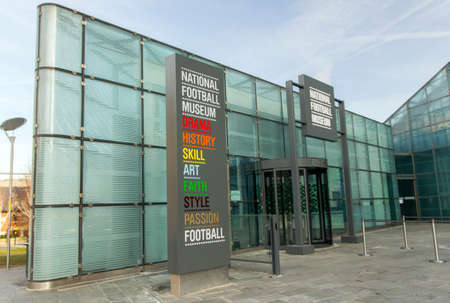 Exterior of  The National Football Museum Manchester England February 2013