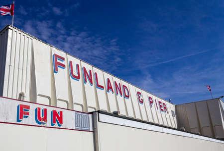 Exterior shot of the Funland Arcade Southport England