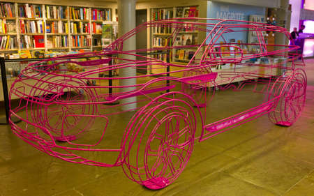 A wire-frame model of the Range Rover Evoque present at the launch event held at the Tate Gallery Albert Dock Liverpool September 2011
