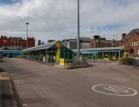 Exterior photo of St Helens Bus Station St Helens Merseyside March 2019 Editorial