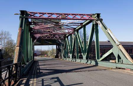 the bascular Egerton Bridge at Birkenhead Wirral April 2019