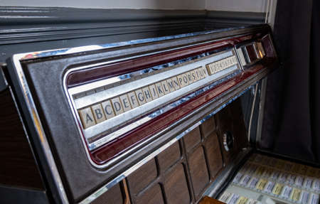 old disused push button jukebox Southport February 2020 Stockfoto